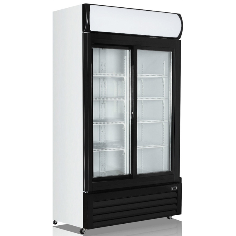 2 Door Glass Display Fridge