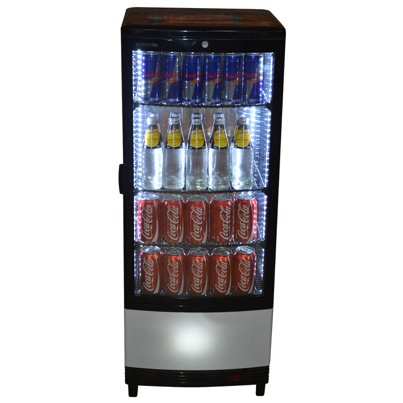 Glass front bar fridge